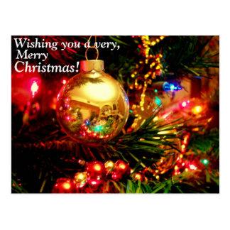Desejando lhe A muito cartão do Feliz Natal Cartoes Postais