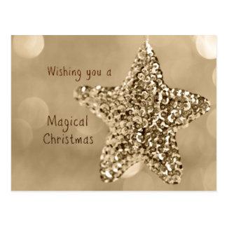 Desejando lhe um Natal mágico Cartoes Postais