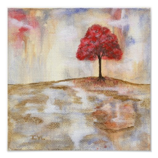 Desejando o impressão das belas artes da árvore da