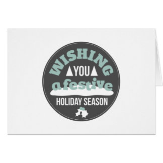 Deseje-lhe uma estação festiva cartão