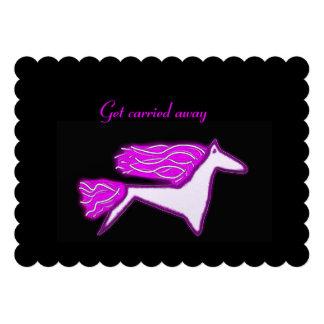 Deseje o convite do aniversário do cavalo