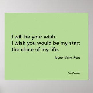 Desejo - poster da poesia