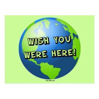 Desejo você estava aqui cartão cartao postal