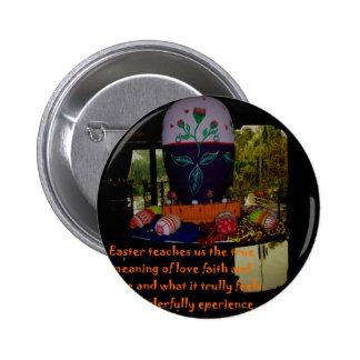 Desejos da fé e da esperança do amor do felz bóton redondo 5.08cm