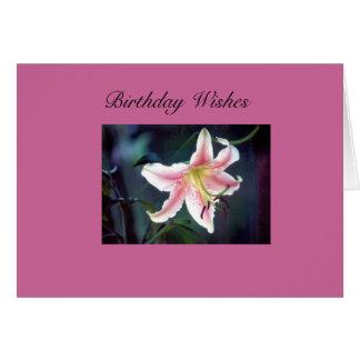 desejos do aniversário cartões