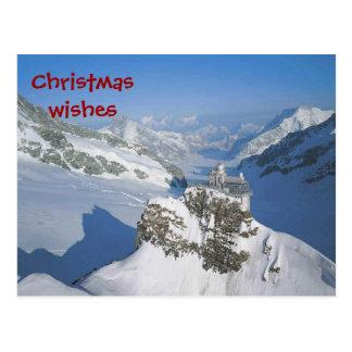 Desejos do Natal da parte superior de Europa Cartão Postal