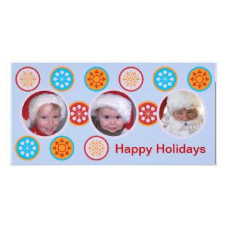 Desejos felizes do feriado cartão com foto