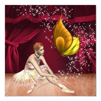 Desempenho da bailarina/partido - SRF Convite Quadrado 13.35 X 13.35cm