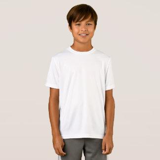 Desempenho personalizado do Esporte-Tek dos miúdos T-shirt