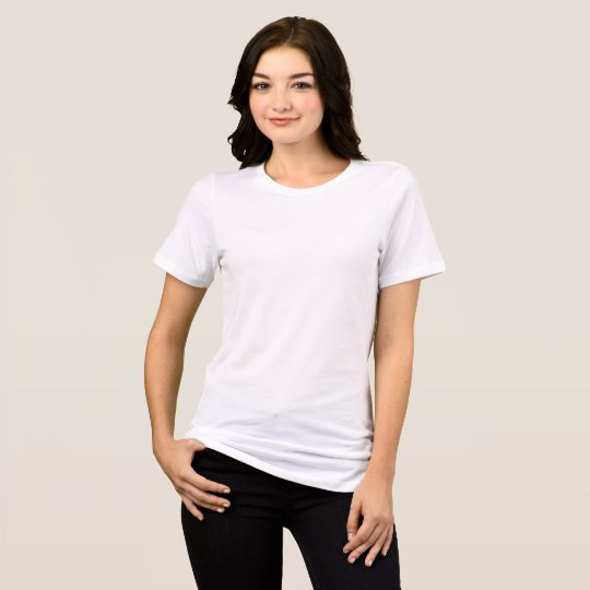 Camiseta feminina folgada, Bella+Canvas, Branco