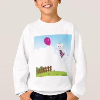 Desenhistas que voam o gatinho com balão t-shirts