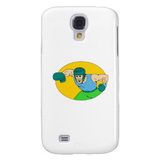 Desenho amador do perfurador de KO do pugilista Capas Samsung Galaxy S4