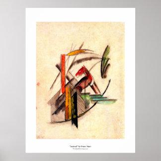 Desenho animal pelo pintor do expressionista de Fr Posters