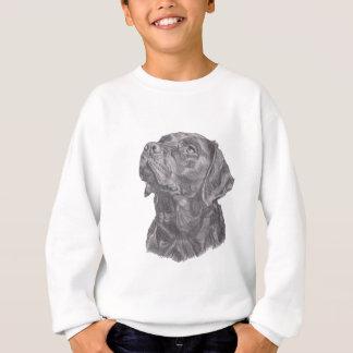 Desenho clássico do perfil do cão de labrador camisetas