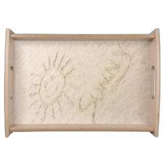 Desenho da bandeja do serviço da luz do sol do