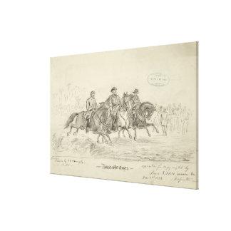Desenho da mão de três heróis por F.C. Buroughs Impressão Em Tela