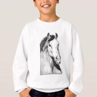 desenho de um cavalo (preto e branco) agasalho