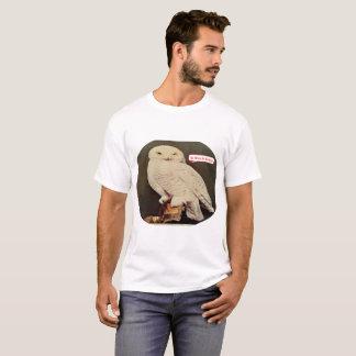 Desenho de uma coruja camiseta