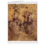Desenho do coração e de seus vasos sanguíneos cartao