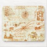 Desenho técnico & esboços por Leonardo da Vinci Mousepad
