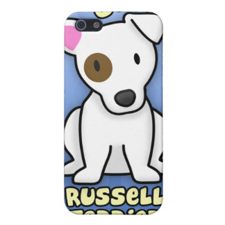 Desenhos animados azuis Jack Russell Capas iPhone 5
