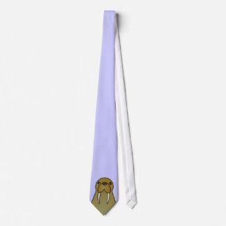 Desenhos animados bonitos da morsa gravata