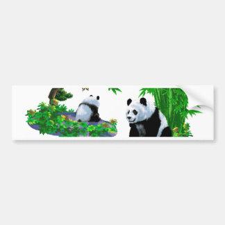 desenhos animados bonitos da panda adesivo para carro