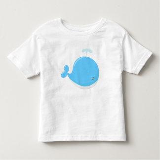 Desenhos animados bonitos do kawaii da baleia do camiseta