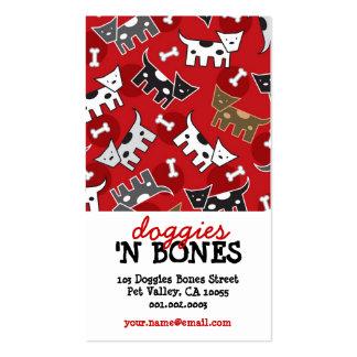 Desenhos animados bonitos loja de animais de cartão de visita