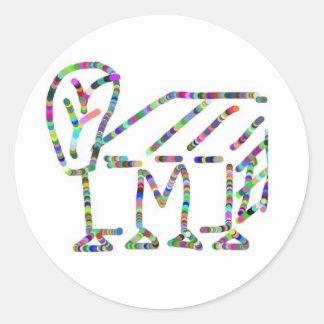 Desenhos animados, caricatura, alfabeto mmm adesivo