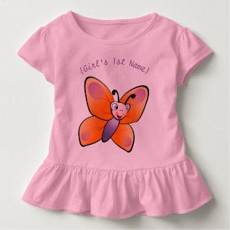 Desenhos animados coloridos bonitos da borboleta camisetas