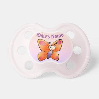 Desenhos animados coloridos bonitos da borboleta chupeta de bebê