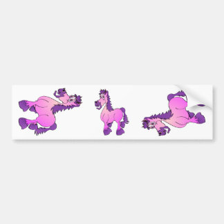 Desenhos animados cor-de-rosa do cavalo adesivo para carro