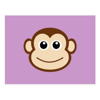 Desenhos animados da cara do macaco cartão postal