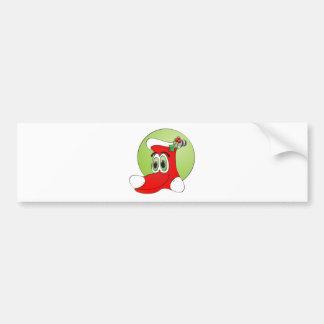 Desenhos animados da meia do Natal Adesivo Para Carro