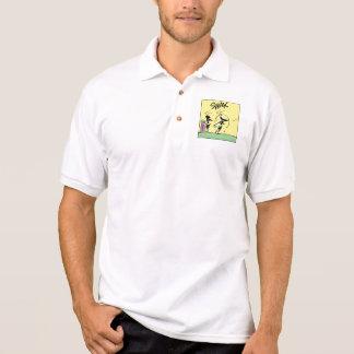 Desenhos animados da movimentação do golfe camisa polo