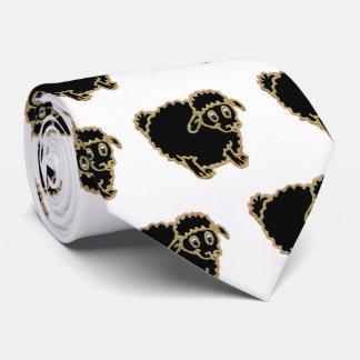 Desenhos animados das ovelhas negras gravata