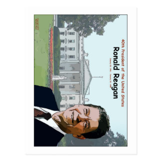 Desenhos animados de Ronald Reagan Cartão Postal