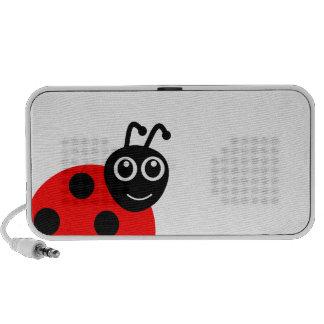 Desenhos animados de sorriso bonitos do joaninha caixinhas de som para iPod