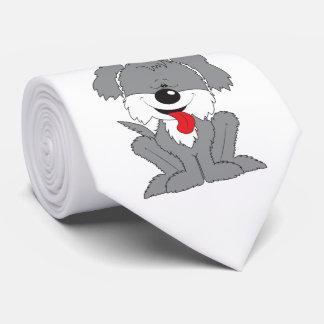 Desenhos animados desgrenhado bonitos do filhote gravata