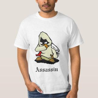 Desenhos animados do assassino charactar t-shirts