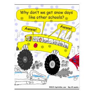 Desenhos animados do auto escolar de 686 monstro cartão postal