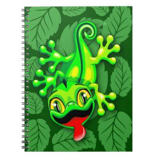 Desenhos animados do bebê do lagarto do geco caderno espiral