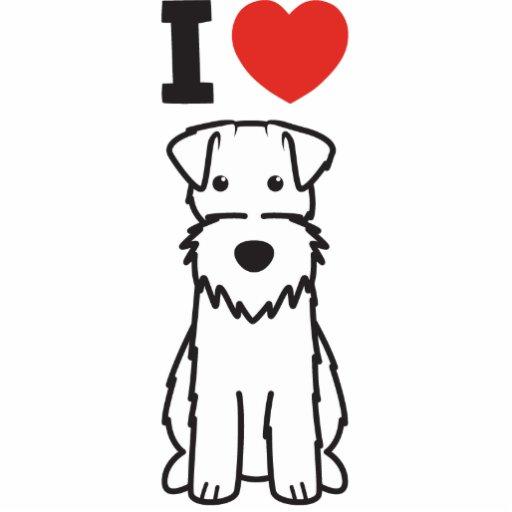Desenhos animados do cão do Fox Terrier do fio Escultura Foto