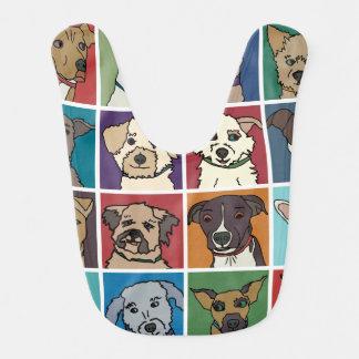 Desenhos animados do cão do salvamento babador infantil