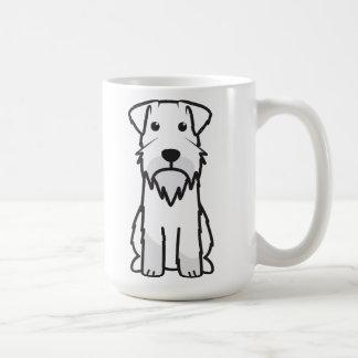 Desenhos animados do cão do Schnauzer diminuto Caneca De Café