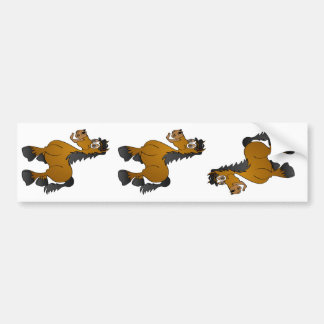 Desenhos animados do cavalo de Brown Adesivo Para Carro