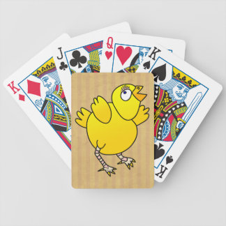 Desenhos animados do divertimento da galinha do baralhos de carta
