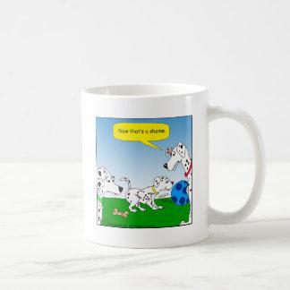 desenhos animados do gato do dalmation 613 caneca de café