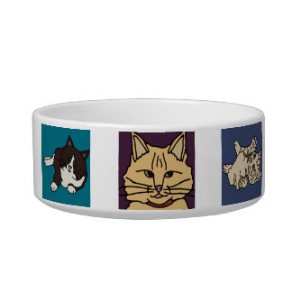 Desenhos animados do gato tijelas para comida de gatos
